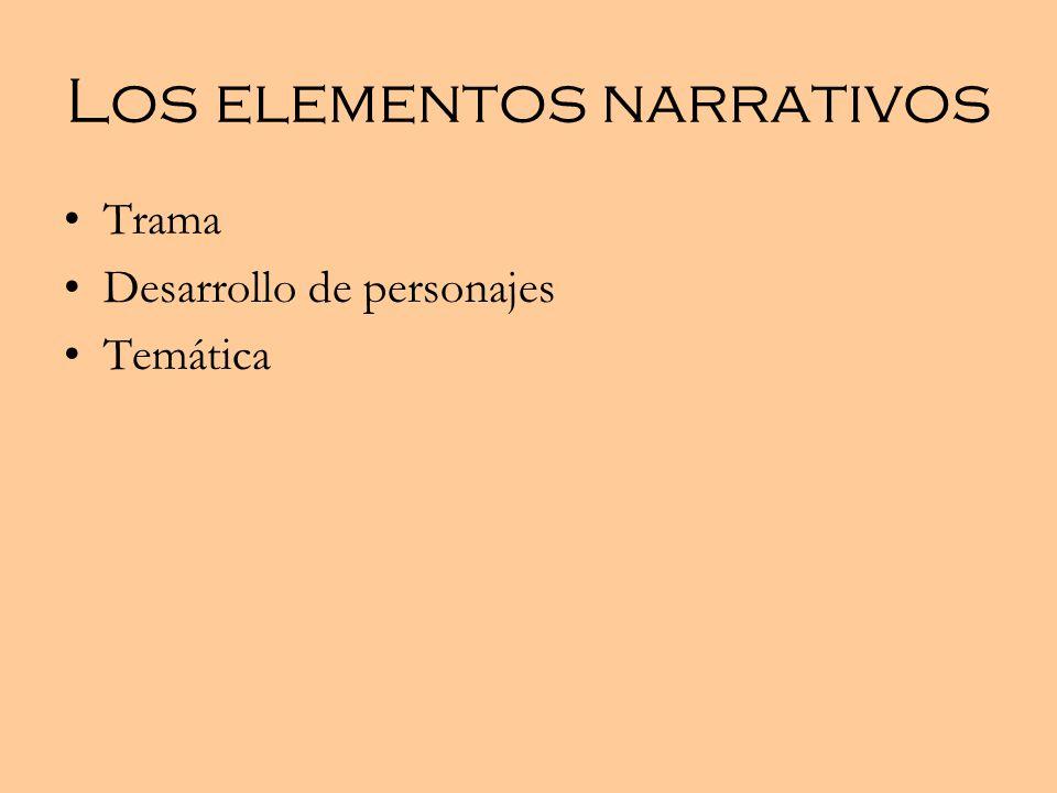 Los elementos narrativos
