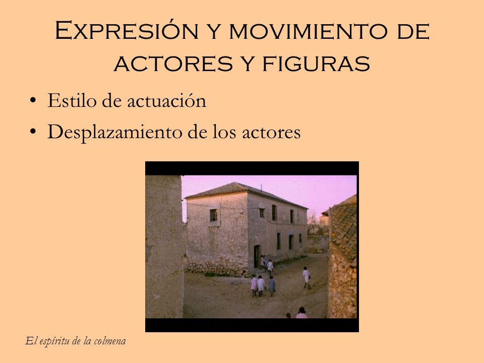 Expresión y movimiento de actores y figuras