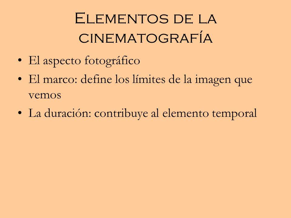 Elementos de la cinematografía