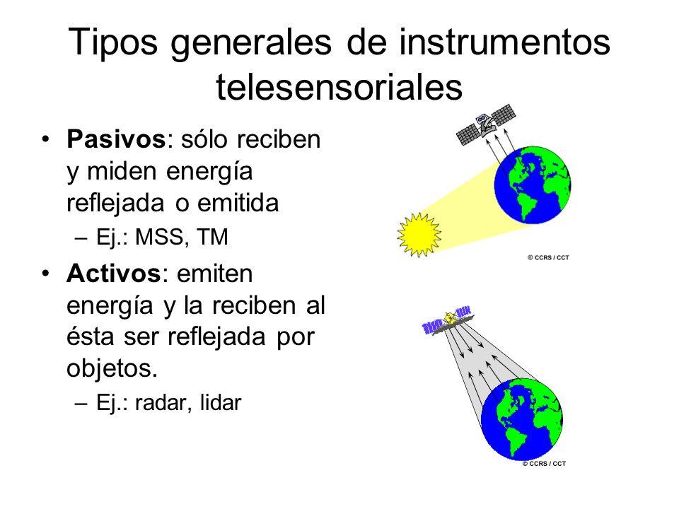 Tipos generales de instrumentos telesensoriales