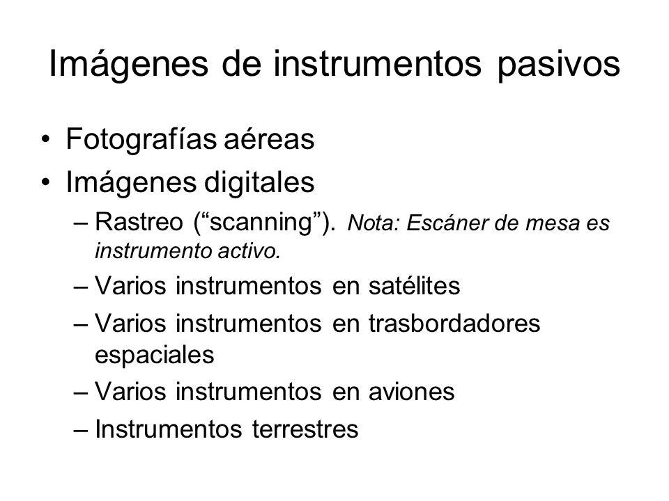 Imágenes de instrumentos pasivos