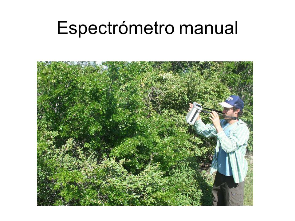 Espectrómetro manual