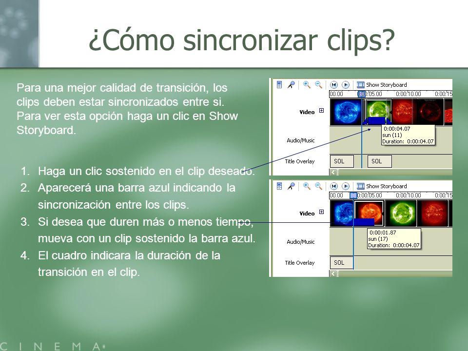 ¿Cómo sincronizar clips