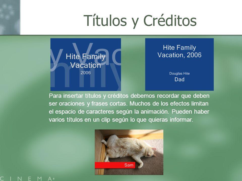 Títulos y Créditos