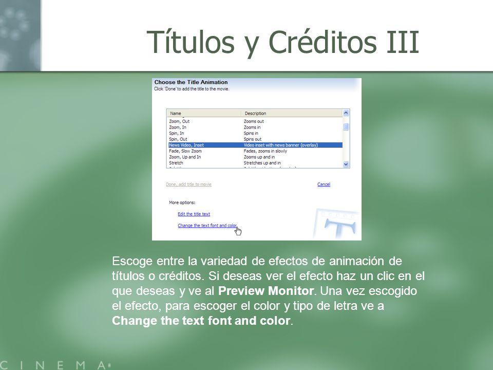 Títulos y Créditos III