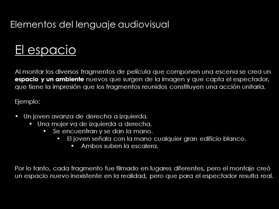 El espacio Elementos del lenguaje audiovisual