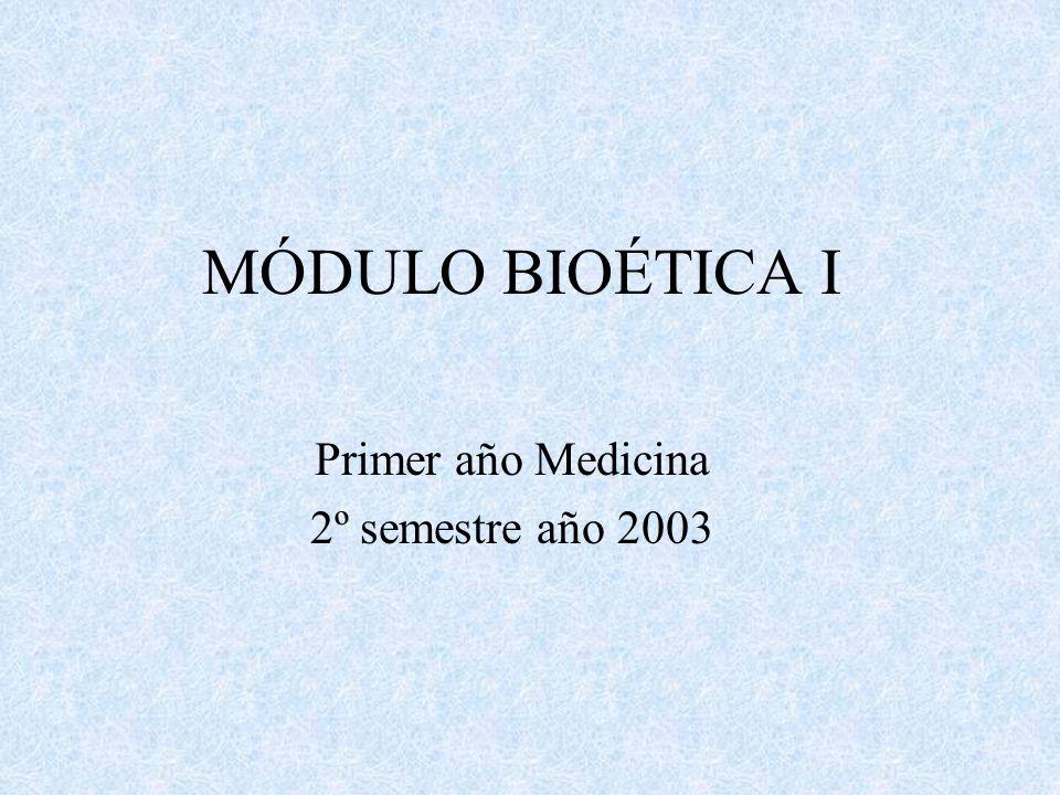 Primer año Medicina 2º semestre año 2003