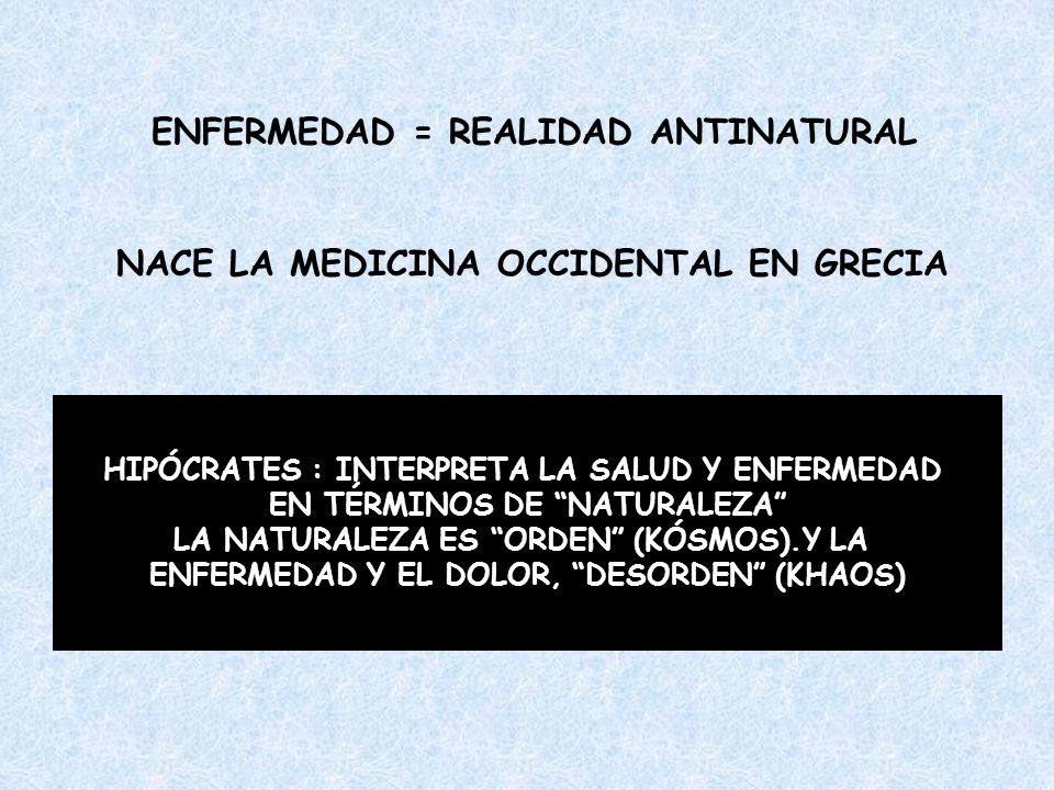 ENFERMEDAD = REALIDAD ANTINATURAL