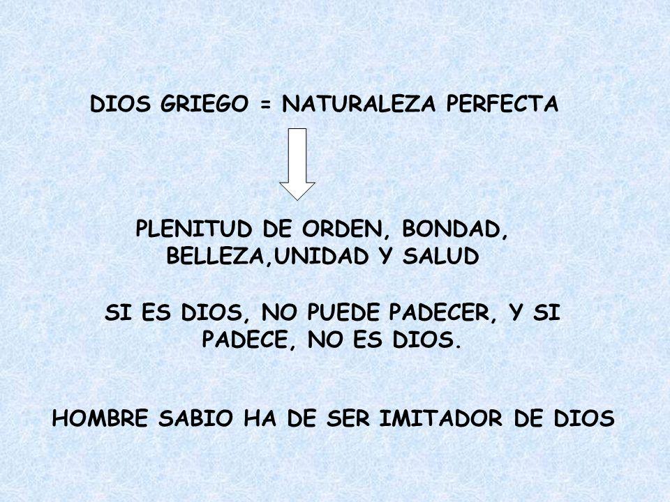 DIOS GRIEGO = NATURALEZA PERFECTA