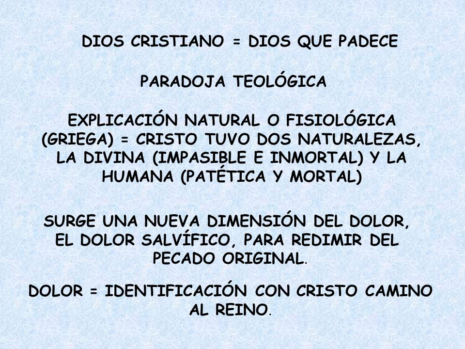 DIOS CRISTIANO = DIOS QUE PADECE