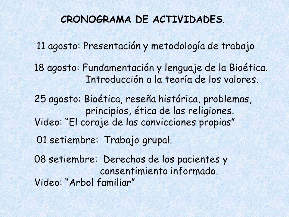 CRONOGRAMA DE ACTIVIDADES.