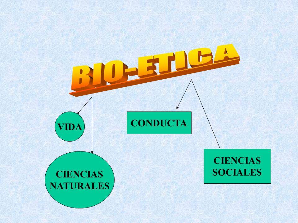 BIO-ETICA VIDA CONDUCTA CIENCIAS SOCIALES CIENCIAS NATURALES