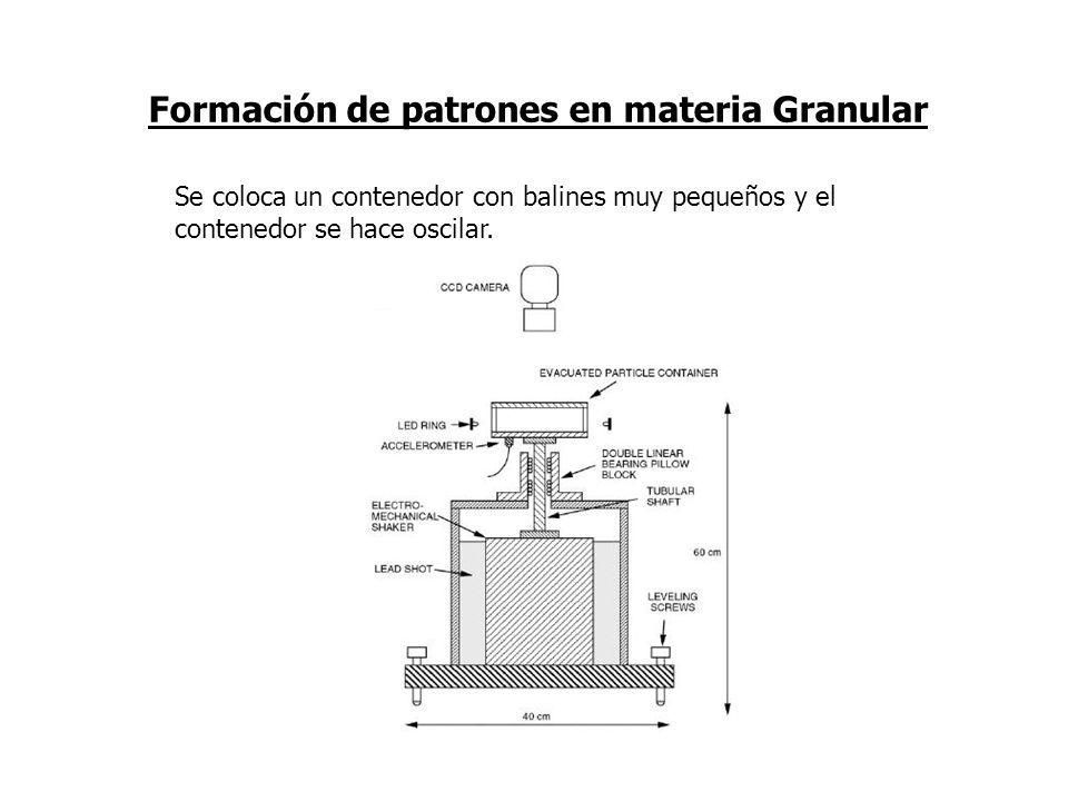 Formación de patrones en materia Granular