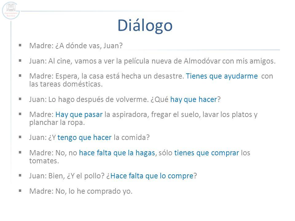 Diálogo Madre: ¿A dónde vas, Juan