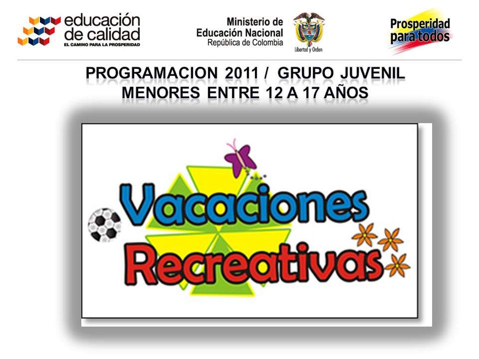 PROGRAMACION 2011 / grupo juvenil