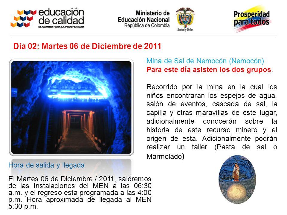 Día 02: Martes 06 de Diciembre de 2011