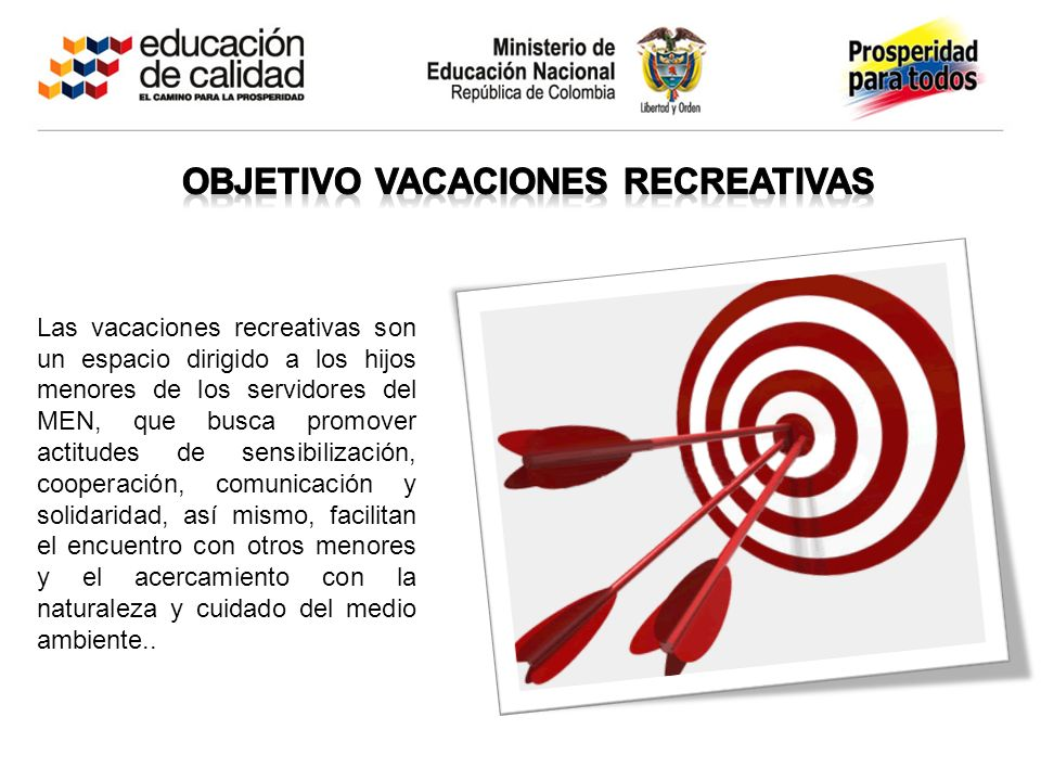 Objetivo vacaciones recreativas