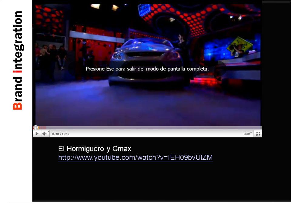 Brand integration El Hormiguero y Cmax