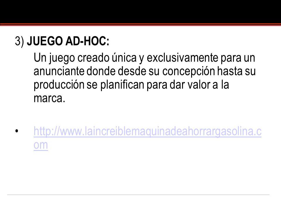 3) JUEGO AD-HOC: