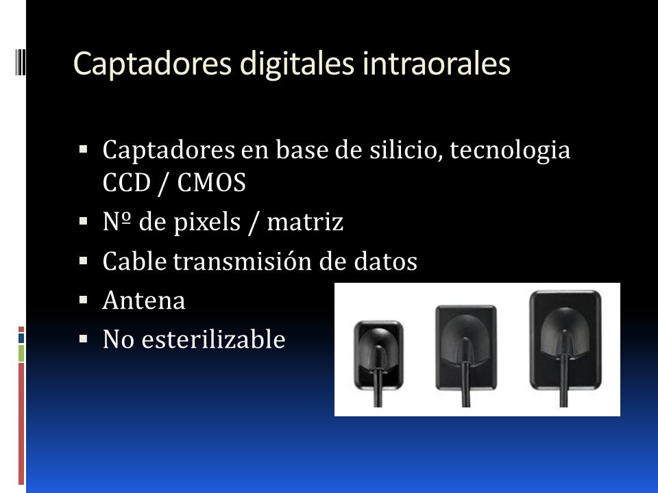 Captadores digitales intraorales