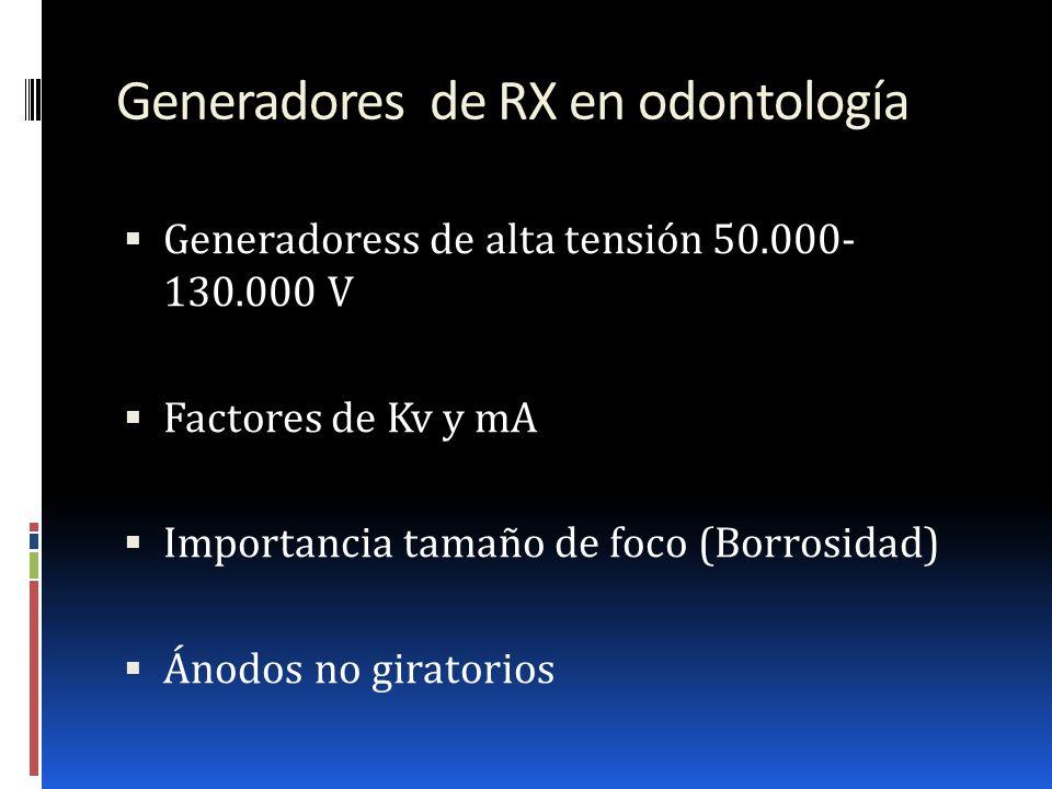 Generadores de RX en odontología