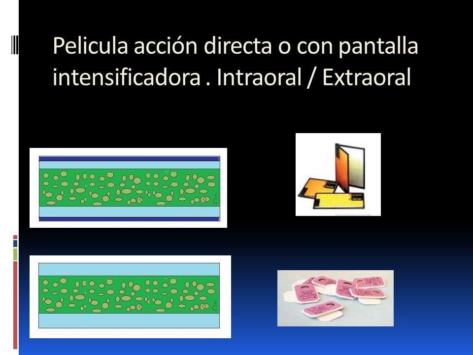 Pelicula acción directa o con pantalla intensificadora