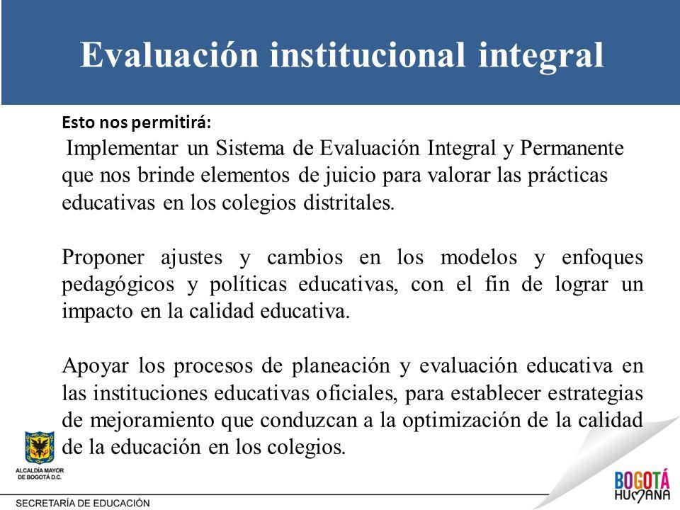 Evaluación institucional integral