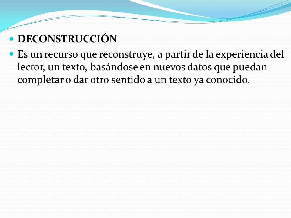 DECONSTRUCCIÓN