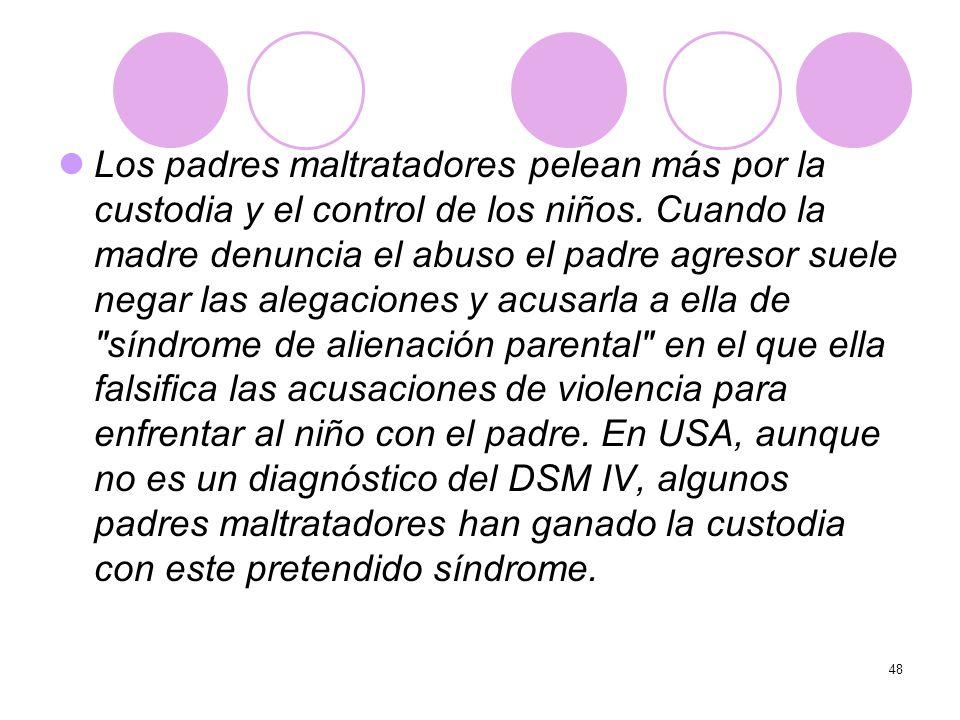 Los padres maltratadores pelean más por la custodia y el control de los niños.