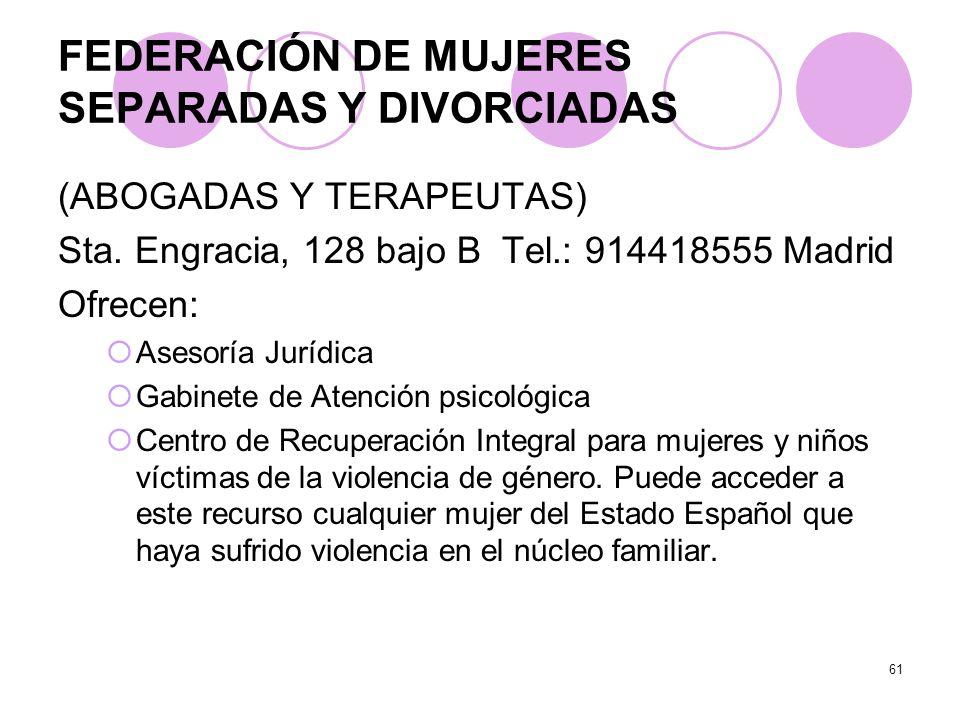 FEDERACIÓN DE MUJERES SEPARADAS Y DIVORCIADAS