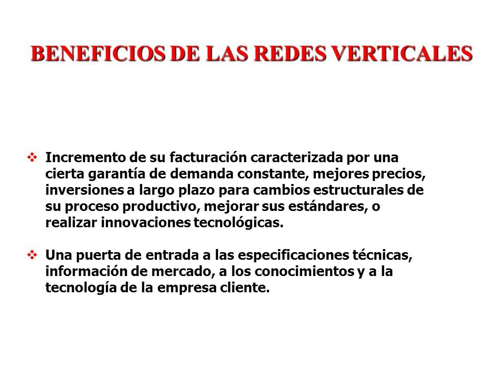 BENEFICIOS DE LAS REDES VERTICALES