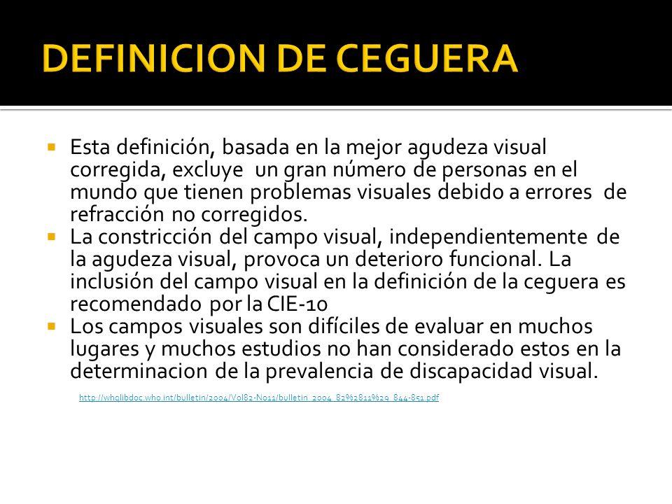 DEFINICION DE CEGUERA