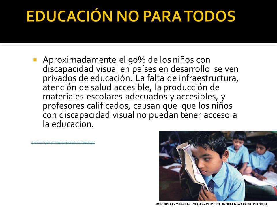 EDUCACIÓN NO PARA TODOS