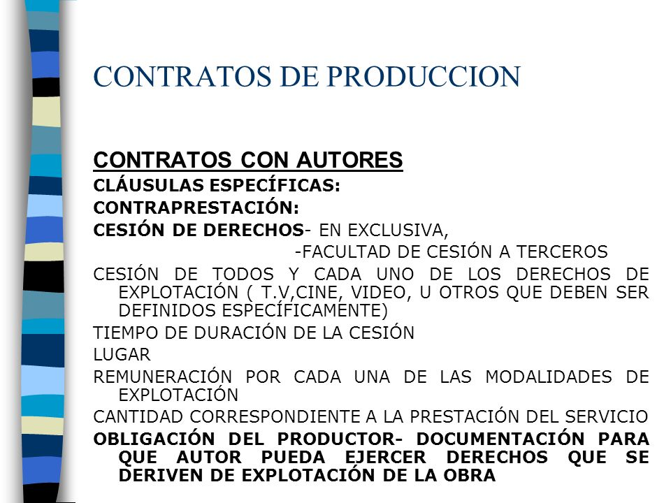 CONTRATOS DE PRODUCCION