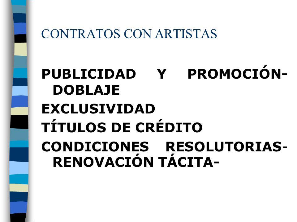 CONTRATOS CON ARTISTAS