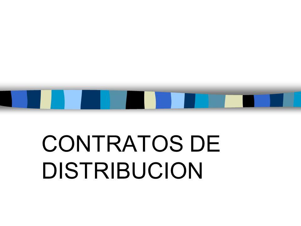 CONTRATOS DE DISTRIBUCION