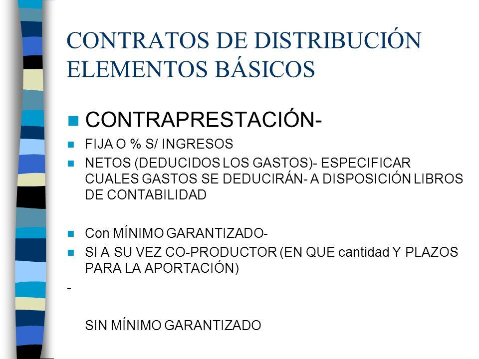 CONTRATOS DE DISTRIBUCIÓN ELEMENTOS BÁSICOS