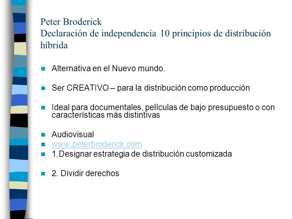 Peter Broderick Declaración de independencia 10 principios de distribución híbrida
