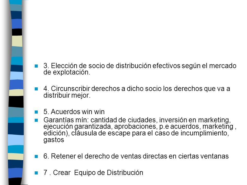 3. Elección de socio de distribución efectivos según el mercado de explotación.
