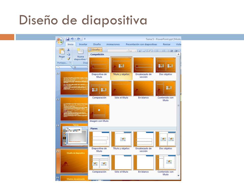 Diseño de diapositiva