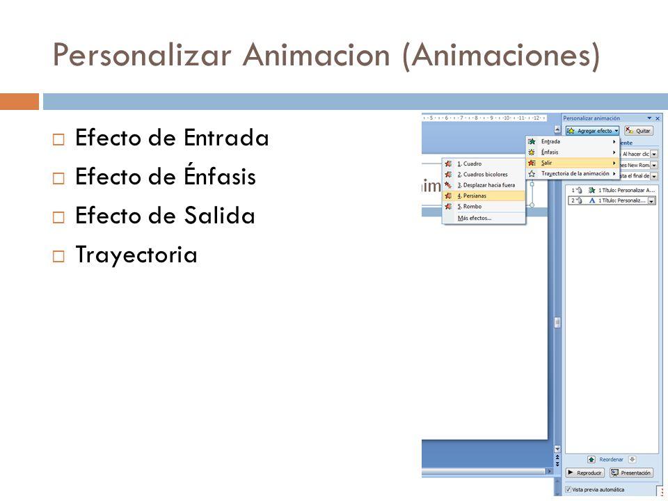 Personalizar Animacion (Animaciones)
