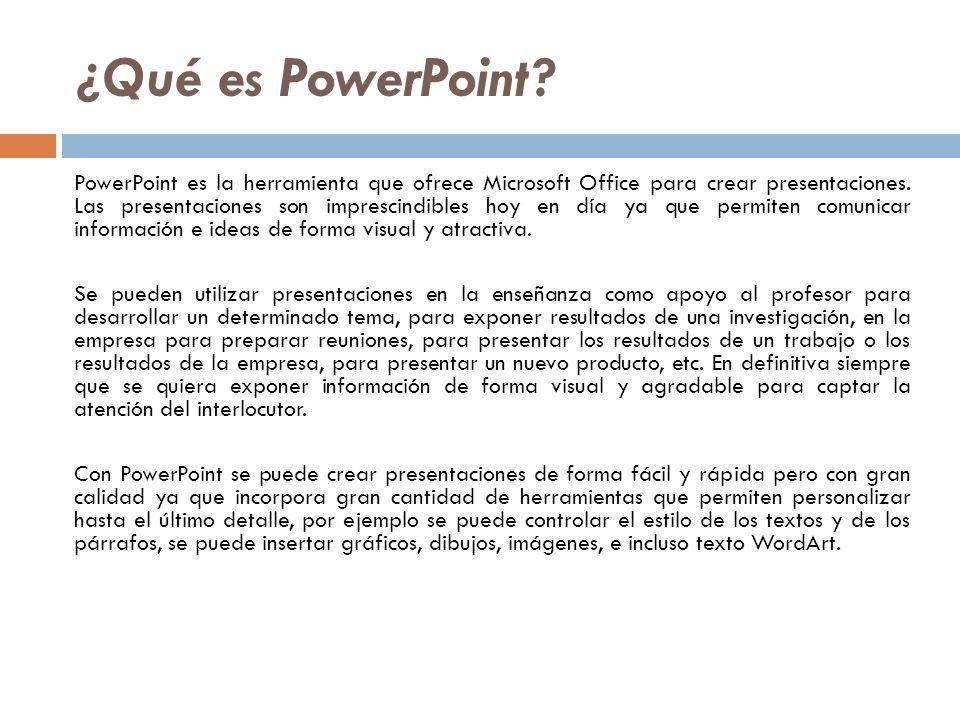 ¿Qué es PowerPoint
