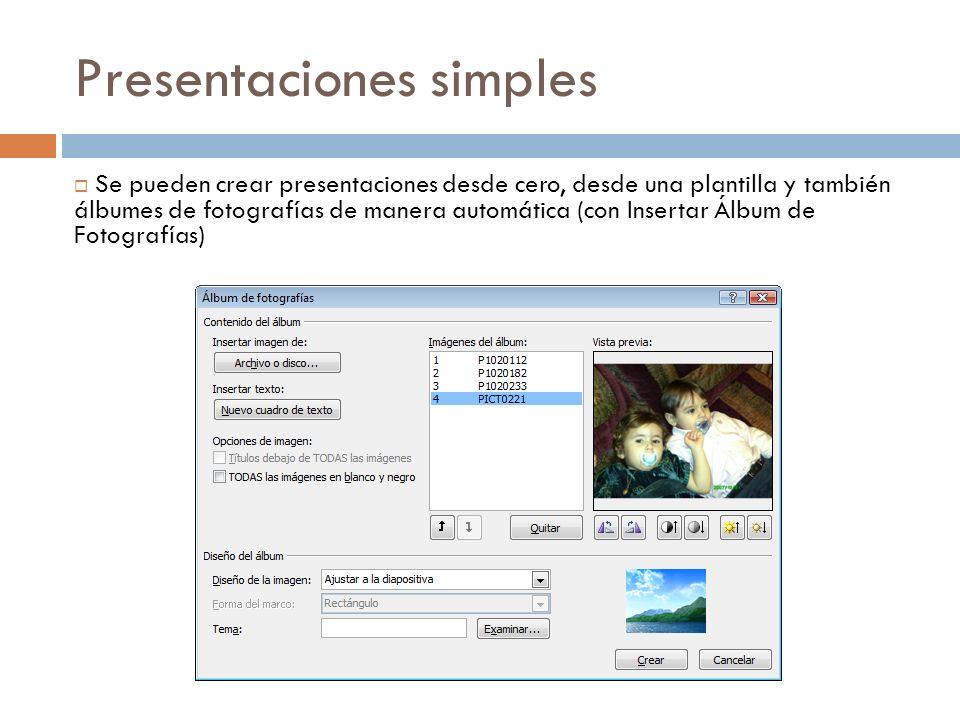 Presentaciones simples