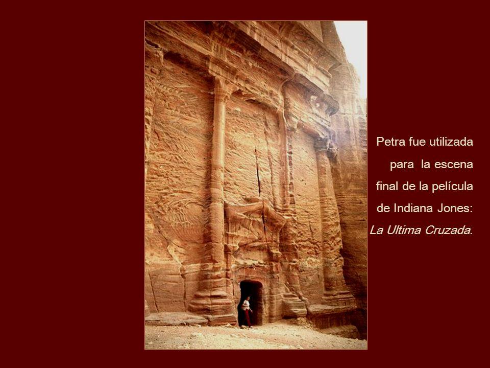 Petra fue utilizada para la escena final de la película de Indiana Jones: La Ultima Cruzada.