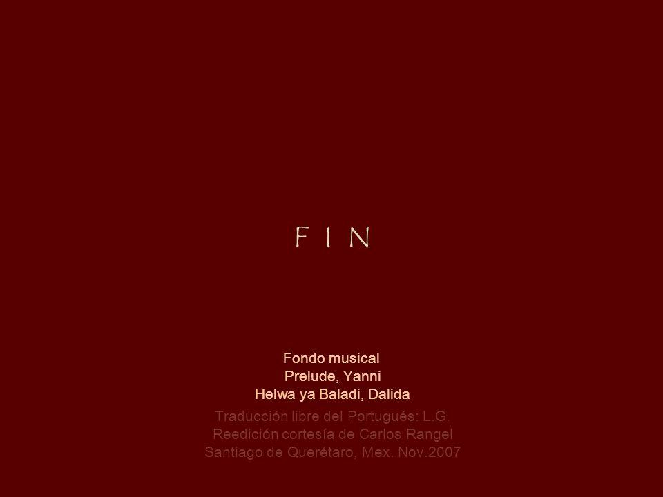 F I N Fondo musical Prelude, Yanni Helwa ya Baladi, Dalida