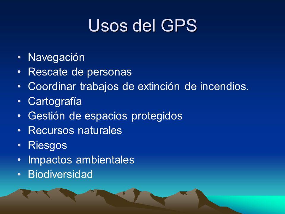 Usos del GPS Navegación Rescate de personas