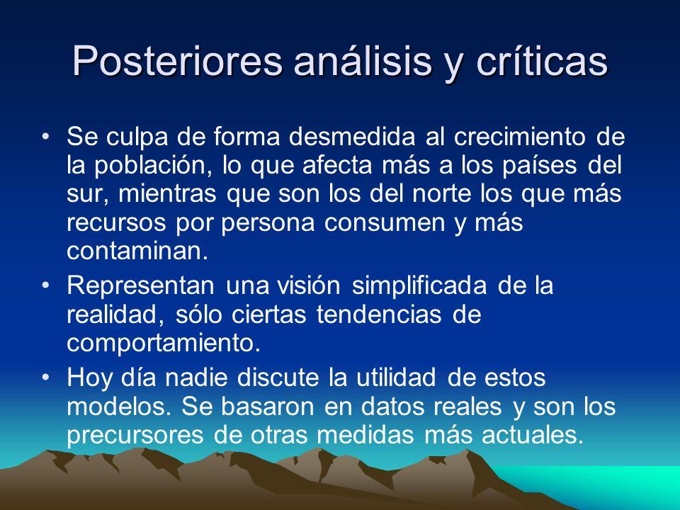 Posteriores análisis y críticas