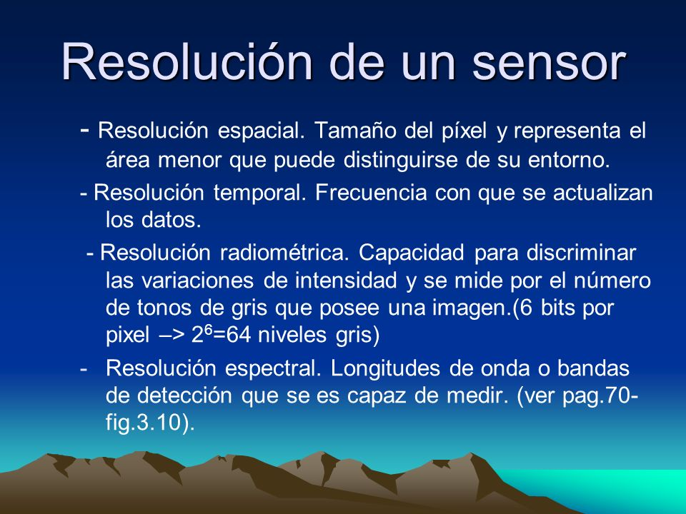 Resolución de un sensor