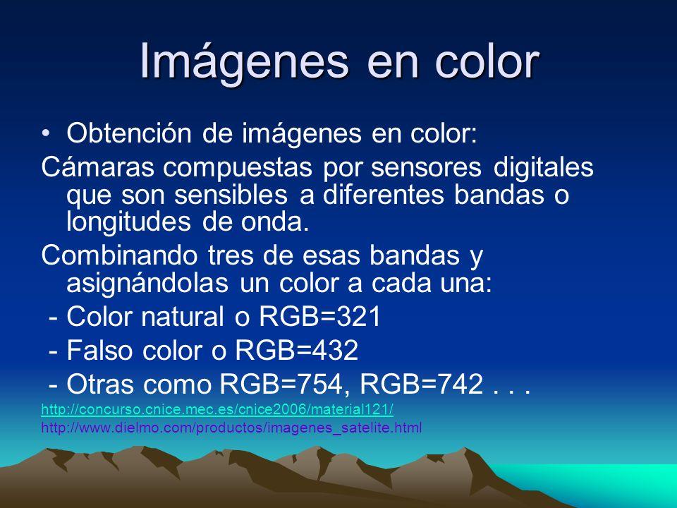 Imágenes en color Obtención de imágenes en color: