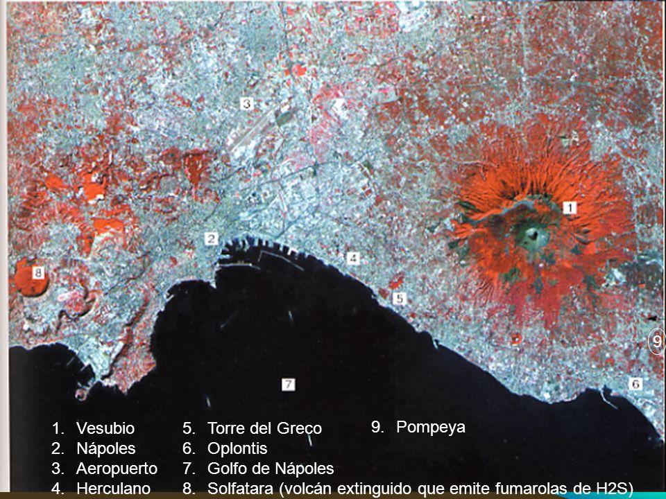 9 Pompeya. Vesubio. Nápoles. Aeropuerto. Herculano. Torre del Greco. Oplontis. Golfo de Nápoles.